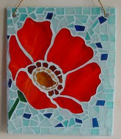 poppy mosaic. I've seen this as a stained glass panel, Very nice.