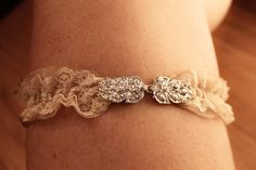 20% off for the month of January!  Beautiful Vintage Garter in Champagne ~I LOVE IT!!!
