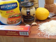 Homemade Ceasar Salad Dressing - Ingredients: 2 small garlic cloves, minced 1 teaspoon anchovy paste (found near the tuna fish in the supermarket) 2 tablespoons freshly sque...