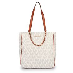 You Will Never Leave Michael Kors Harper Logo Medium White Totes Once You Decide To Be With It!