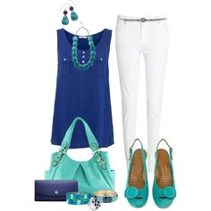 """""""Navy and Turquoise"""" by twistedribbon12 on Polyvore"""