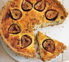 fig and blue cheese tart. Perfect for a vegetarian meal. I made it for ...