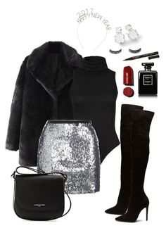 """""""NYE Look 1"""" by nicoleshautediary on Polyvore featuring Topshop, Lancaster, Ippolita, Chanel, Smith & Cult, inspiration, polyvorefashion, nyelook and nyebeauty"""