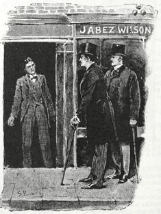 """""""The door was instantly opened"""" Sidney Paget Illustration for """"The Red-Headed League,"""""""