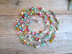 Over the rainbow extra long wrap bracelet/necklace with by Sydnejo, $145.00