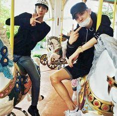 chanyeol and sehun exo in horse play IG pcy update last vacation after comeback Baekhyun, Park Chanyeol, Kpop Exo, Exo K, Exo Couple, Exo Members, Chanbaek, Boyfriend Material, Rapper
