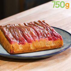 Gâteau renversé à la rhubarbe Rhabarber verschüttet Kuchen