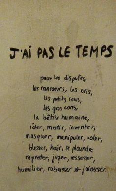 J'ai pas le temps sorry. Love Quotes, Inspirational Quotes, Quote Citation, French Quotes, Pretty Words, Some Words, Positive Attitude, Positive Affirmations, Quotations