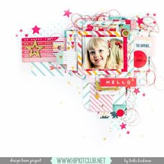 The Hip Kit Club Monthly Scrapbook Kit Club offers the best monthly Embellishment, Paper, Cardstock, Project Life and Color Scrapbook Kits! Project Life Album, Project Life Cards, Scrapbooking Layouts, Scrapbook Cards, June Colors, Hello Design, Hip Kit Club, Color Kit, Club Design