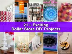 21+ Exciting Dollar Store DIY Projects