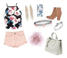 """""""OOTD"""" by unicornsanddolls ❤ liked on Polyvore featuring Current/Elliott, Prada, Charlotte Russe, Kate Spade, Accessorize, River Island, Sonix, women's clothing, women's fashion and women"""