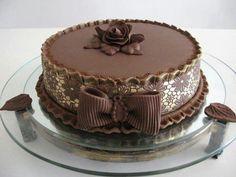 Happy Birthday Wishes With Chocolate Cake Bow Cakes, Cupcake Cakes, Beautiful Cakes, Amazing Cakes, Cake Image Free, Chocolate Cake Images, Tarta Chocolate, Dessert Aux Fruits, Cake & Co