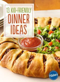 Weekend dinner is easy with these kid-friendly ideas! The whole family will love how delicious these recipes are and you'll love how quick they are to make. From our Taco Crescent Ring to our Chicken Pot Pie Crescent Ring, you'll find simple recipes to try every day of the week.