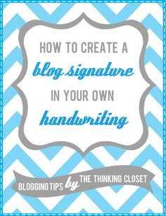 How to create a font suing your own handwriting! Awesome and perfect for a blog signature or business cards!