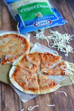 Easy Pizza Using Flour Tortillas – Great for After School Snacks! #afterschoolsnacks  http://southernkrazed.com/2014/08/easy-pizza-using-flour-tortillas-great-school-snacks/