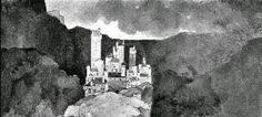 Maxfield Parrish: Illustrazione per L'età d'oro di Kenneth Grahame (1900, part.) - da: Et in Arcadia ego