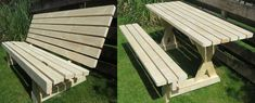 Picture of Picnic table and bench - 2 in 1