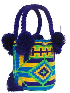 Buy Wayuu Bags Online-Colombian Bags Retailers and Wholesalers-Suscribe and Get 3 FREE Wayuu Bracelets with your first purchase! My Bags, Purses And Bags, Knitted Bags, Crochet Bags, Mini Mochila, Tribal Bags, Light Pink Color, Tapestry Crochet, Crochet Home