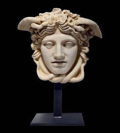 Eclectic Sculptures, Roman C, Cast Stone, Prado, Medusa, My Etsy Shop, Museum, Statue, Check