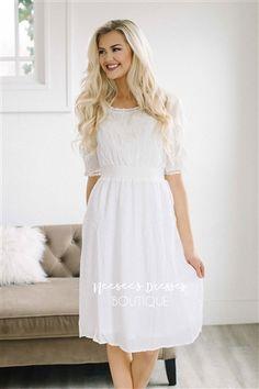 Ivory Emboridered Sundress Modest Dress, Vintage Dress, Church Dresses, dresses for church, modest bridesmaids dresses, trendy modest, modest skirt, modest shirts, cute modest dresses, modest church dresses, mikarose, trendy boutique