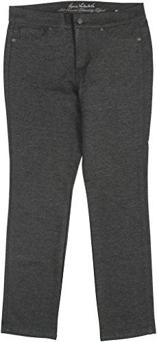 Gloria Vanderbilt Womens Petite Vickie Ponte Pants 14P Average Heather Grey * You can find out more details at the link of the image. (Note:Amazon affiliate link) #PantsCapris