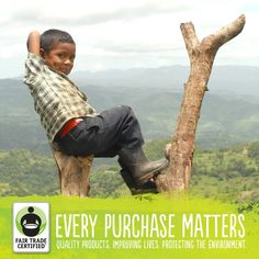 Each time you purchase a Fair Trade product you help support families around the world. Repin this to let others know they can make a difference too.