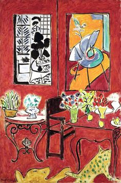 Henri Matisse (French, 1869–1954) Large Red Interior, 1948 Oil on canvas; 57 1/2 x 38 3/16 in. (146 x 97 cm)