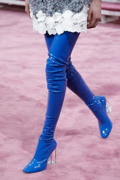 the boots at Christian Dior Spring 2015 Haute Couture