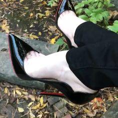 "411 Likes, 4 Comments - @abracadabraistanbul on Instagram: ""@ivonagulbas #foot #shoe #legs #leg #toering #stiletto #fishnet #nylon #piedi #louboutin #highheel…"""