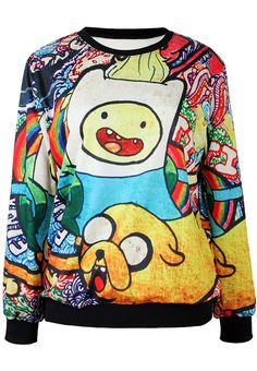 Shop Yellow Long Sleeve Cartoon Print Loose Sweatshirt online. Sheinside offers Yellow Long Sleeve Cartoon Print Loose Sweatshirt & more to fit your fashionable needs. Free Shipping Worldwide!