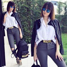Paris Sue - Moschino Backpack, Moschino Belt - Just Moschino!