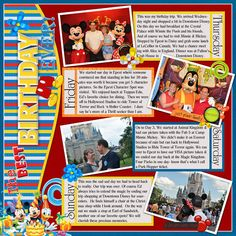 great layout to remember highlights...flip page to make a 2-page layout for more days