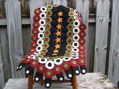 Primitive Wool Folk Art Penny Rug by cuttingtherug
