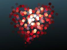 Heart Bokeh vector free
