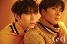 VIXX LR had a photoshoot for the October issue of 'CeCi'.They went for a fall-themed photoshoot to match the cooling weather. The boys donned… Vixx Members, Ravi Vixx, Jung Taekwoon, Jellyfish Entertainment, Kpop Guys, Beautiful Songs, Pop Singers, Korean Celebrities, Handsome Boys