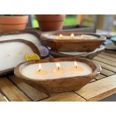 Unique Candles, White Candles, Cinnamon Twists, Pick Your Plum, Bread Bowls, Scented Candles, Hand Carved, Carving, Sweet