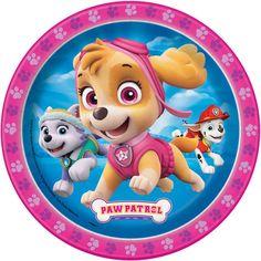 Girl PAW Patrol Birthday Cake Plates | PAW Patrol Girl Birthday Party Supplies