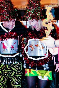 Encourage guest to go crazy creative with costumes - offer a prize for your Christmas party tacky sweater/costume contest.