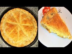 Greek Cheese Pie with Yogurt Bechamel and Layered Phyllo Dough Greek Cheese Pie, Cheese Pies, Pita Recipes, Sweets Recipes, Desserts, Greek Pita, Homemade Pancakes, Cooking, Kochen