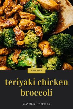 Make takeout at home with this easy & flavorful teriyaki chicken & broccoli! Minimal ingredients, no marinating required, and only 10 minutes to cook up. Serve this juicy chicken and homemade teriyaki sauce over rice as a quick dinner or meal prep! Chicken Teriyaki Rezept, Healthy Teriyaki Chicken, Homemade Teriyaki Sauce, Easy Chicken Recipes, Healthy Dinner Recipes, Cooking Recipes, Chicken Meals, Chicken Broccoli Stir Fry, Dish