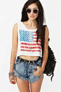 2c63de8cce Americana Crop tank is very cute ✅. Hippies4th Of July OutfitsSummer ...