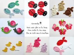 photo cute crochet appliques