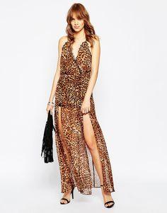 Image 4 - Wyldr Run - Wild - Maxi robe léopard bordée de dentelle