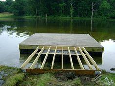 Nate's Fishing Blog: Building Floating Docks