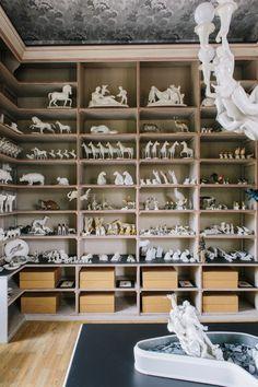 Figure room at Porzellan Manufaktur Nymphenburg