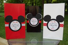 Personalized Mickey Mouse Inspired Favor Bags for Lauren