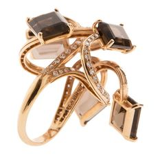 alessandro palwer dance rose gold ring