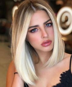 Long Bob Haircuts, Short Bob Hairstyles, Hairstyles Haircuts, Long Straight Hairstyles, Lob Haircut Straight, Medium Stacked Haircuts, Long Blunt Haircut, Long Blunt Bob, Thick Hair Bob Haircut