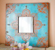 Для дома Зеркало из Бирюзовой коллекции, Декор стен, Ручная работа