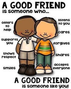 Friend Poster [someone who] by Kaitlynn Albani Classroom Rules, Classroom Behavior, Kids Behavior, Preschool Classroom, Classroom Management, Kindergarten, Preschool Activities, Emotions Preschool, Character Education